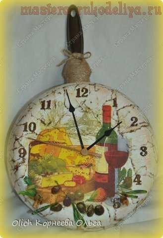 Мастер-класс по декупажу на металле: Часы на кухню