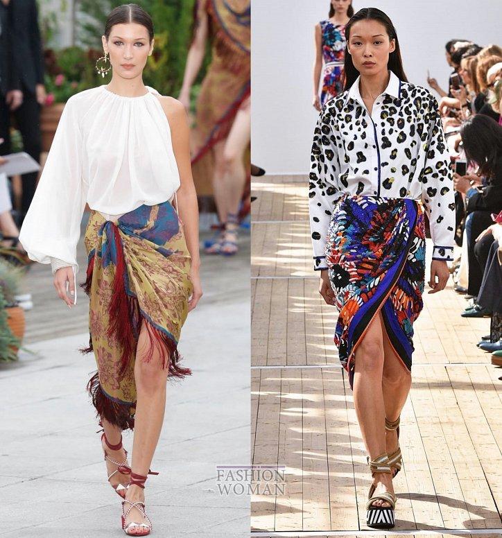 Модные юбки весна-лето 2019 фото №21