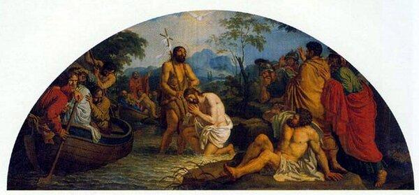 """""""Крещение Спасителя"""", 1800-е для иконостаса Казанского собора, ГРМ"""