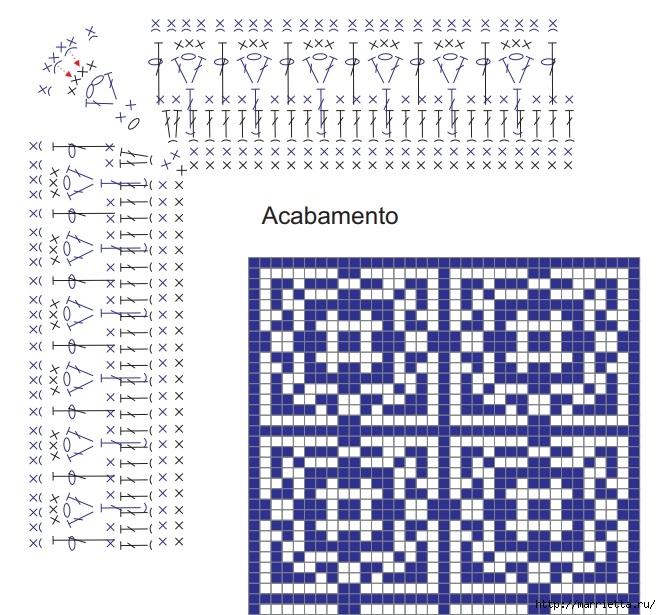 Стильный коврик крючком в португальском стиле (5) (661x615, 303Kb)