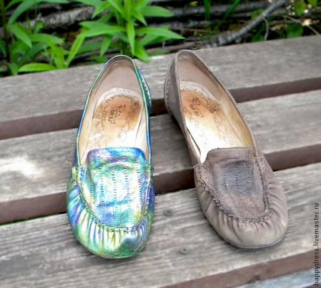 Как покрасить свои старые туфли
