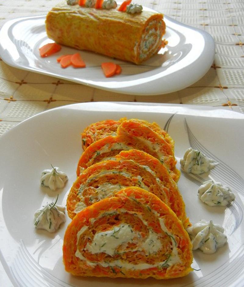 рулет из моркови закусочный itemprop=