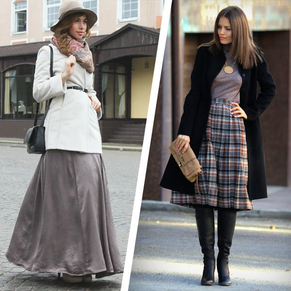 Пальто и юбка: как правильно сочетать
