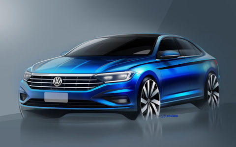 Новый Volkswagen Jetta: рассекречены дизайн и интерьер
