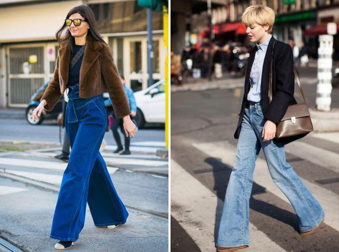 Широкие джинсы – стильные образы на все случаи жизни