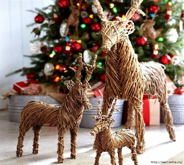 Как сделать рождественского оленя своими руками