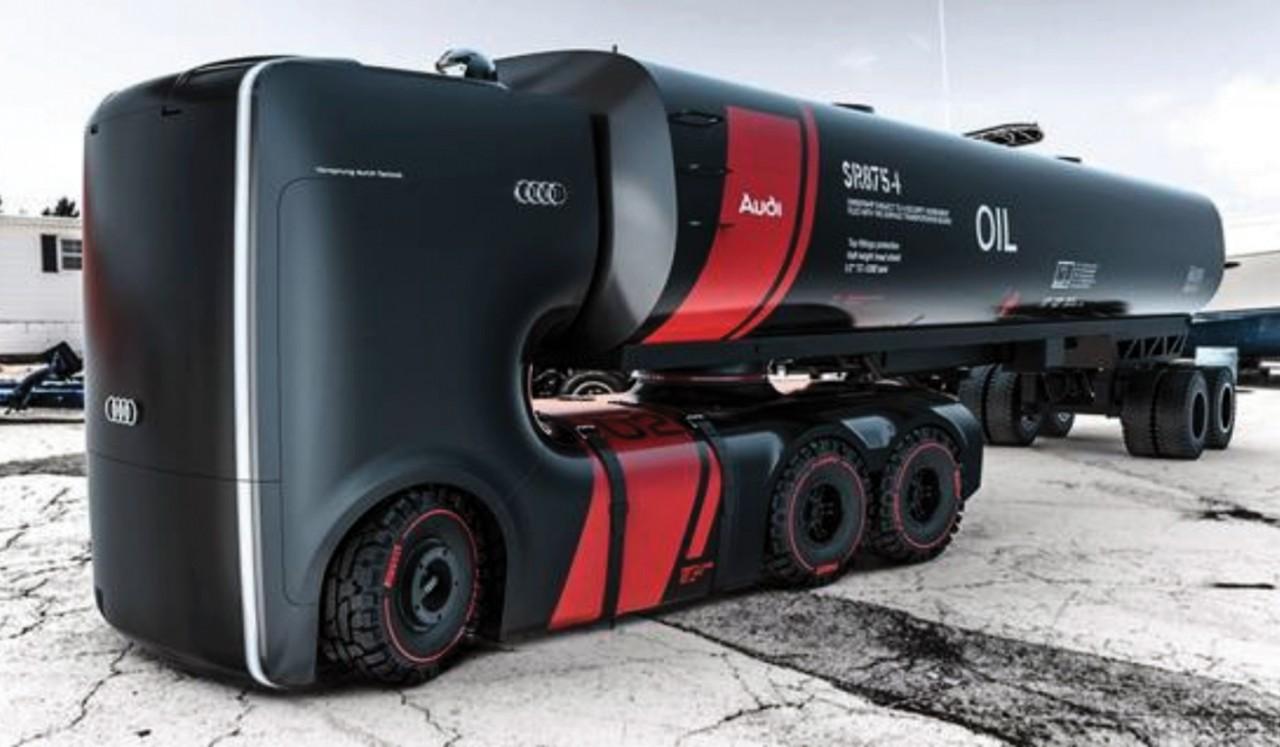 Футуристичный грузовик от ауди AUDI: FUTURIST TRUCKS