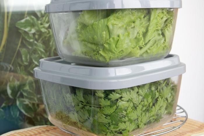 Салат и капусту нужно обязательно отправлять в холодильник. /Фото: sun9-6.userapi.com