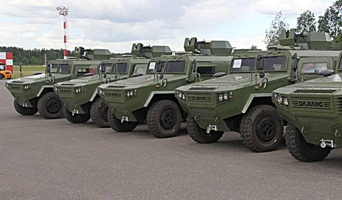 Белоруссия получила новую партию китайских броневиков