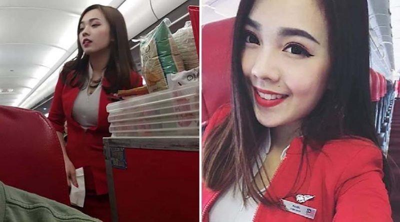 Парень сел на рейс AirAsia и нашёл самую красивую стюардессу