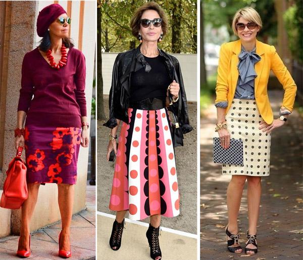 Фасоны юбок для женщин среднего и пожилого возраста