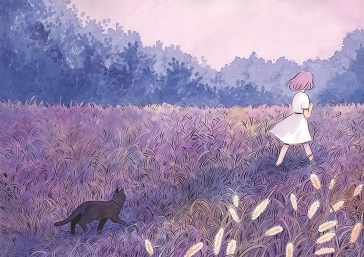 Художница из Финляндии рисует магию одиночества, которую хоть раз чувствовал каждый из нас