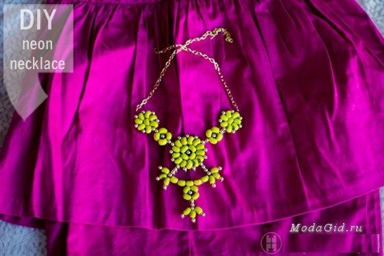 Стильное ожерелье из фасоли