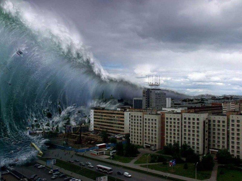 8. Гигантские приливные волны Спутник Земли, Что будет если, гипотезы, земля, интересно, луна, теории