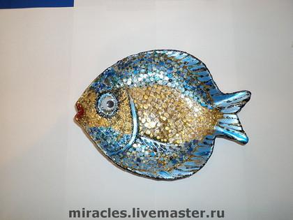 Тарелки ручной работы. Ярмарка Мастеров - ручная работа Золотая рыбка (волшебная). Handmade.