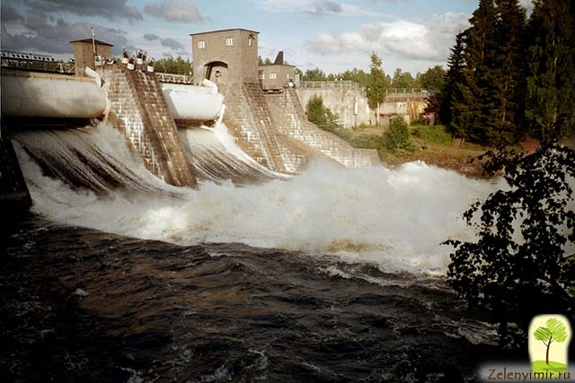 Завораживающий водопад Иматранкоски на плотине в Иматре, Финляндия - 7