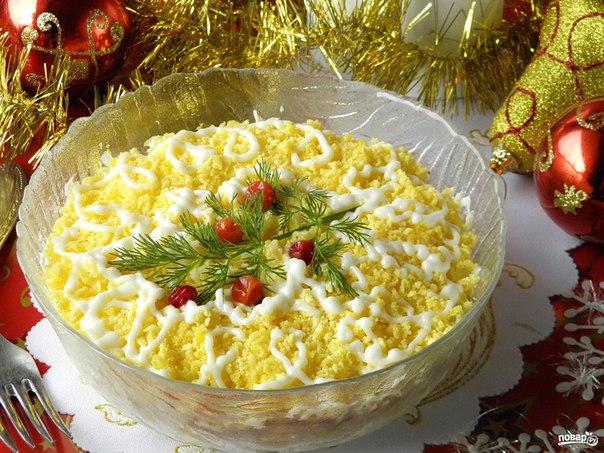 Салат Мимоза новогодний