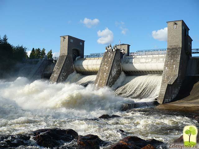 Завораживающий водопад Иматранкоски на плотине в Иматре, Финляндия - 11