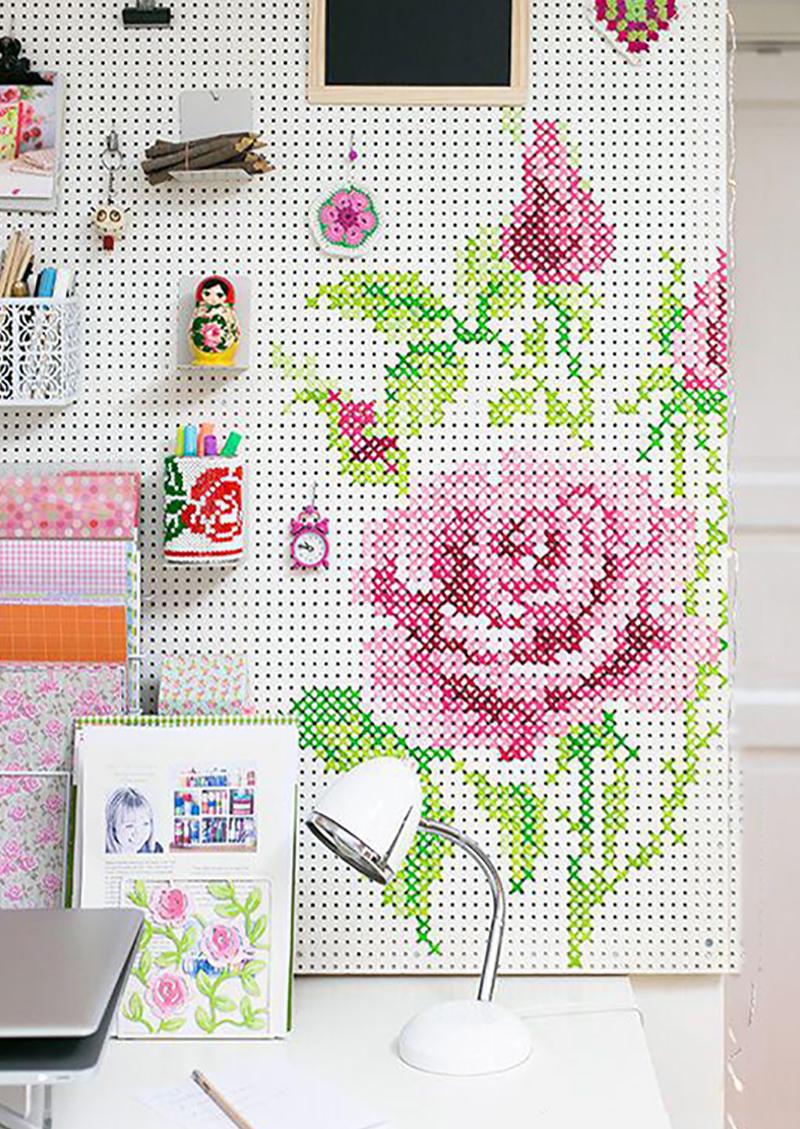 Ах, эта вышивка! Стильный декор интерьера: 25 идей для вдохновения.