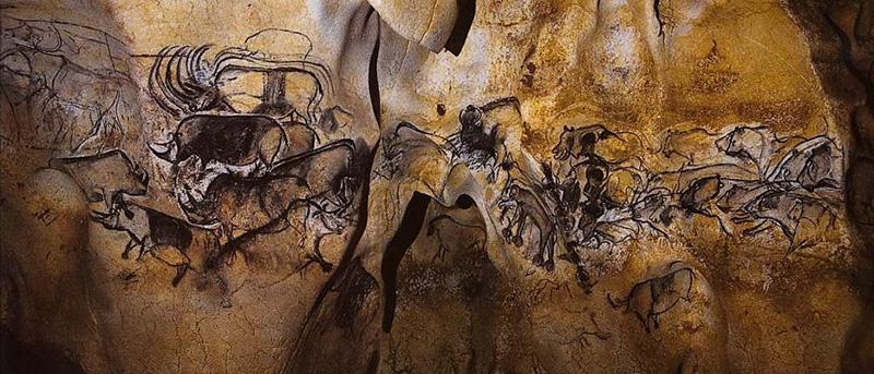 Наскальные рисунки из пещеры Шове (Франция).