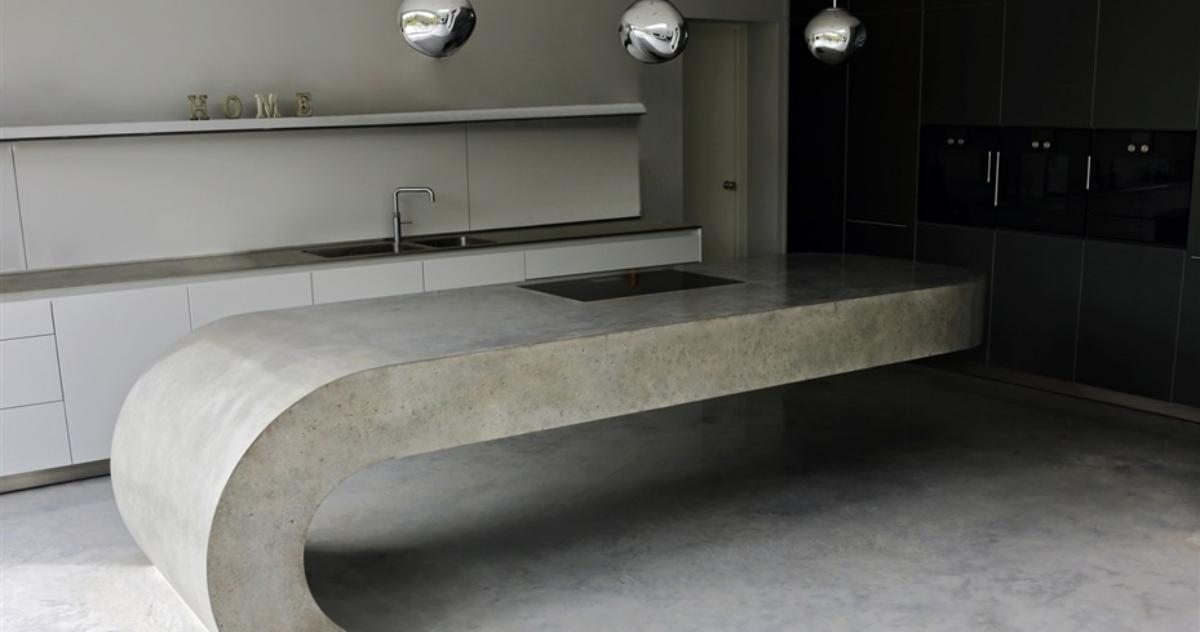 Фантастическая кухня из бетона и пошаговый мастер-класс по её изготовлению
