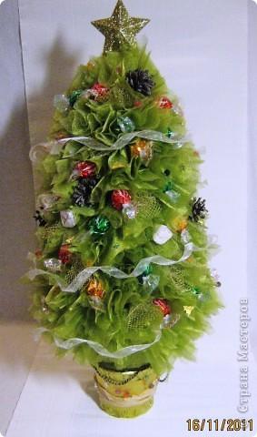 Мастер-класс, Свит-дизайн: МК елочки из конфет Новый год. Фото 1