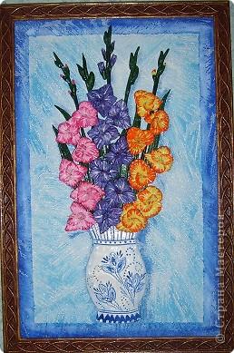 Картины из соленого теста цветы