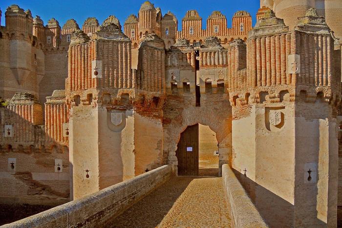 Castillo de Coca, Испания.