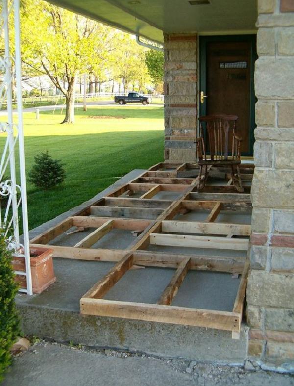 Как построить террасу из поддонов