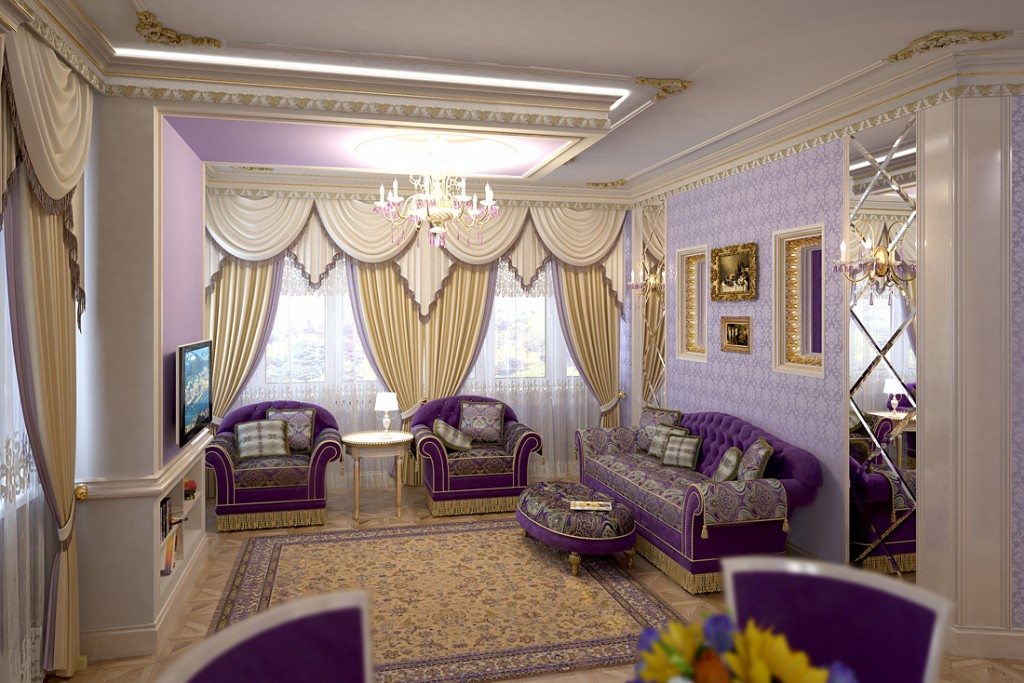 Зал в классическом стиле фото