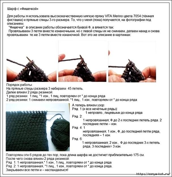 Схемы по вязанию шарфа мужского