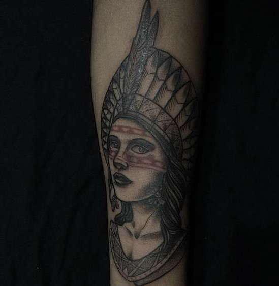 Индейские татуировки и фотографии к ним, значения и эскизы