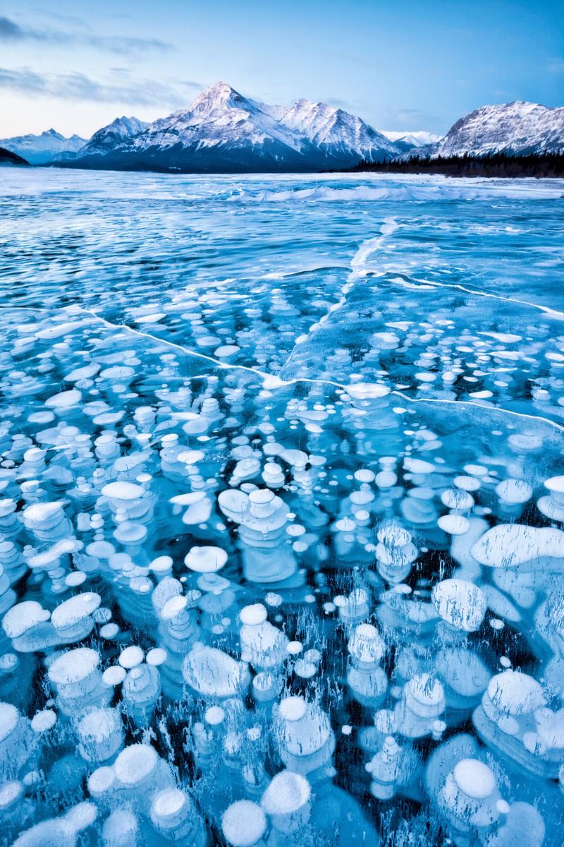 16. Ледяные пузыри жизнь, интересное, красота, мир, природа, феномен, фото, явление