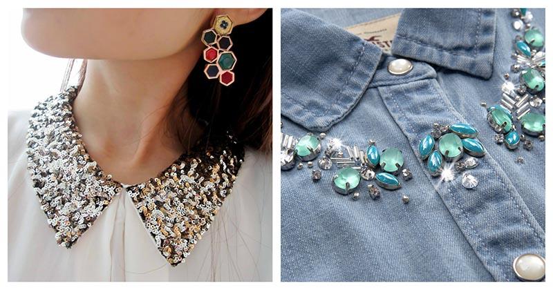 Отличные варианты оригинального декора женской рубашки