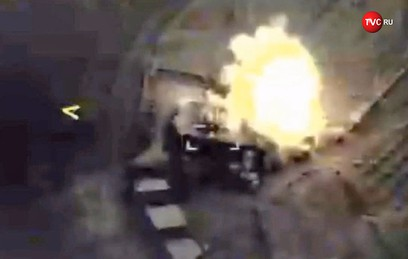 """Видео ракетного удара фрегата """"Адмирал Эссен"""" по объектам ИГ в Сирии"""