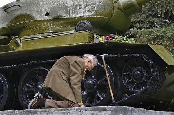 Ветеран, нашедший свой танк
