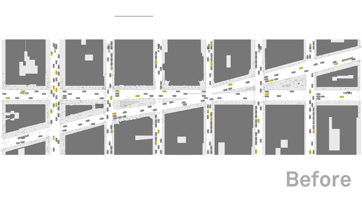 На Таймс-Сквер открыли новую пешеходную зону