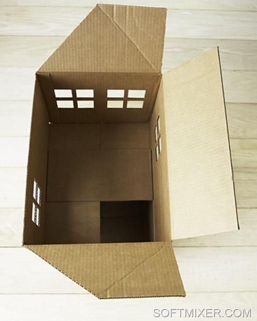 Домики своими руками из коробок фото