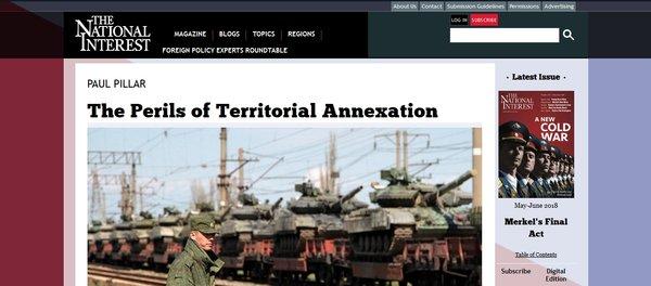The National Interest сравнил израильскую оккупацию Голан и возврат Крыма Домой не в пользу Израиля