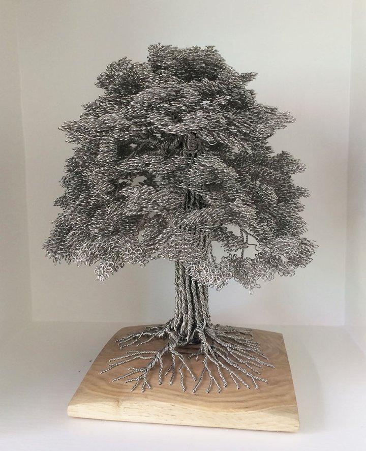 скульптуры деревьев из проволоки клайв мэдиссон (7)