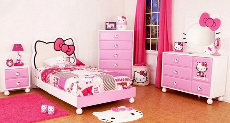 Комната для девочки в стиле Hello Kitty