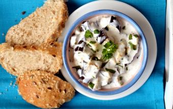 Салат из баклажана с йогуртом