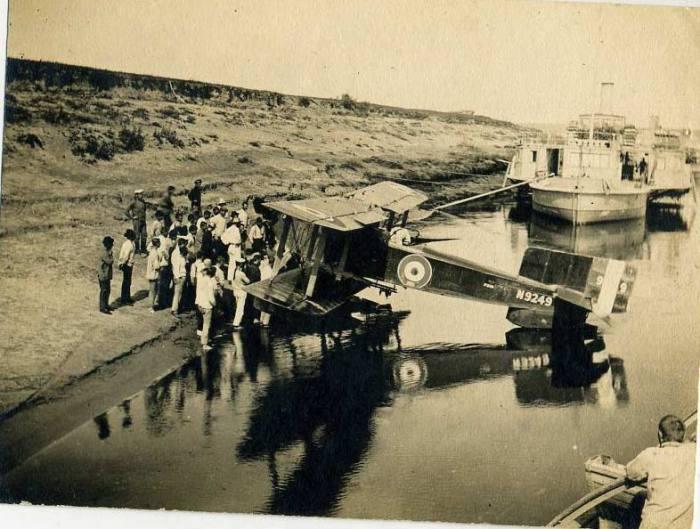 Испытания первого гидросамолета. 7 мая 1915 года.