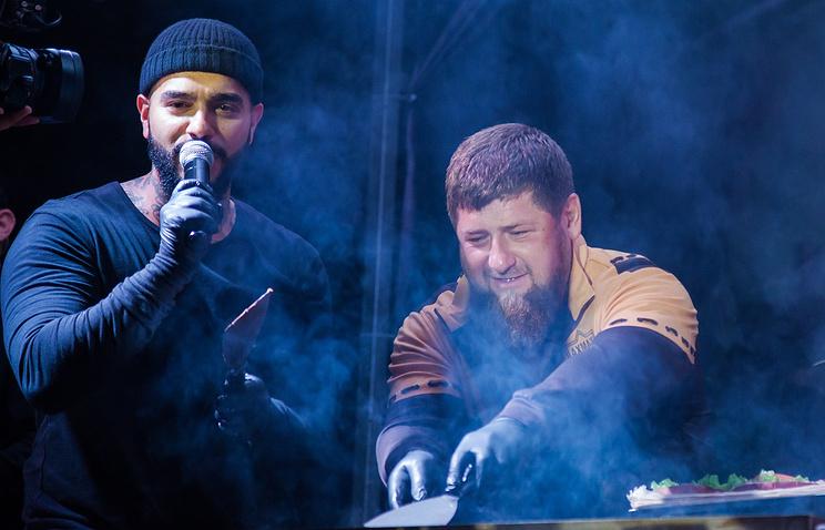 Кадыров вместе с Тимати пожа…