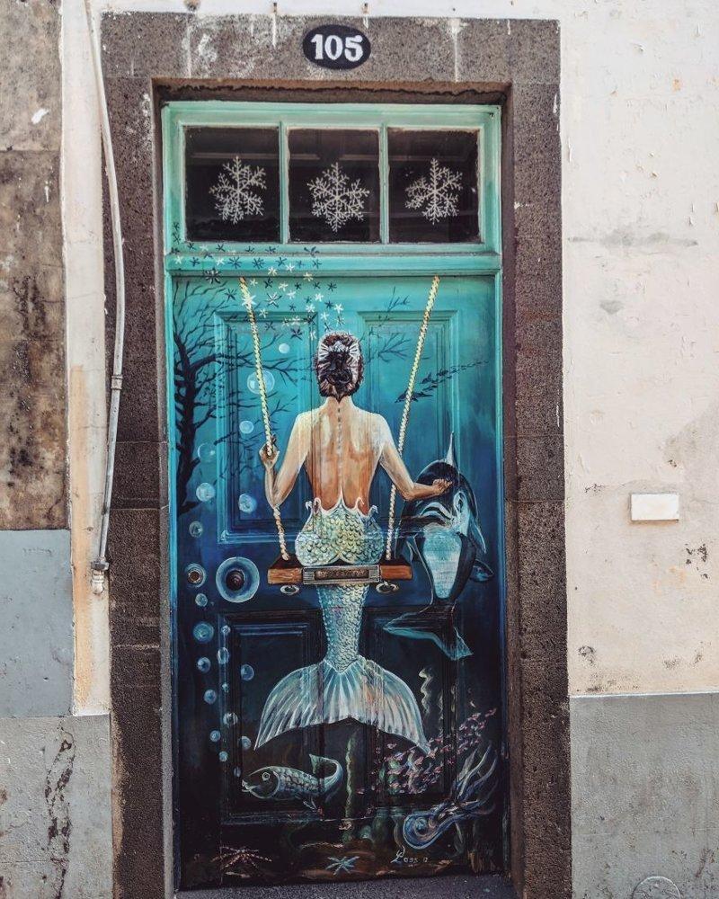 1. дверь, картина, мадейра, португалия, путешествие, фотография, фотомир