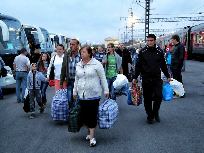 С Украины бегут уже целыми городами