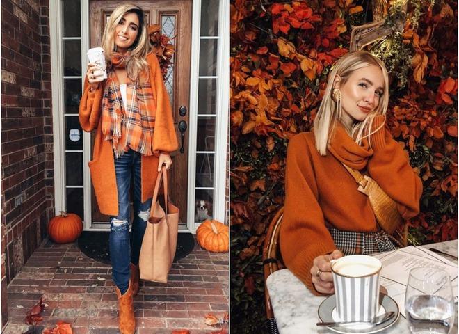 5 способов носить оранжевый оттенок
