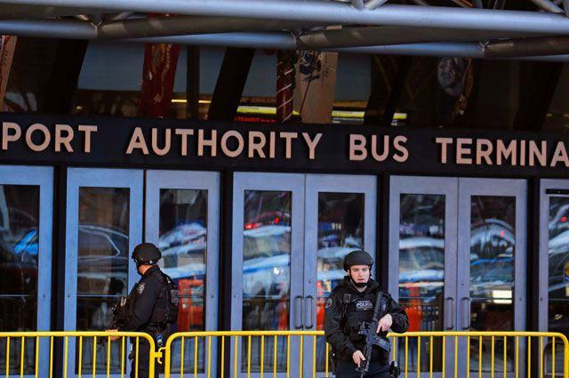 Взрыв в районе автовокзала на Манхэттене