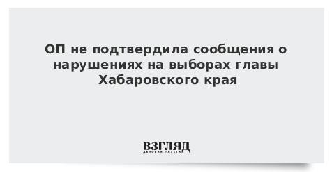 ОП изучила более 50 сообщений о возможных нарушениях на выборах главы Хабаровского края