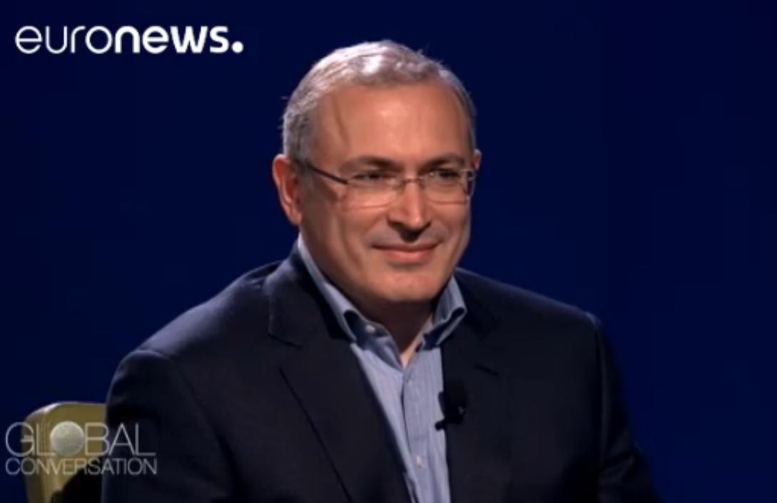 """Михаил Ходорковский: """"Россия заслуживает лучшего""""- о возвращении в Россию интервью Евроньюс"""